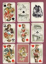 Antique  playing cards.1930`s Dondorf  Swiss costumes